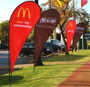 custom flags and banners teardrop banners mcdonalds